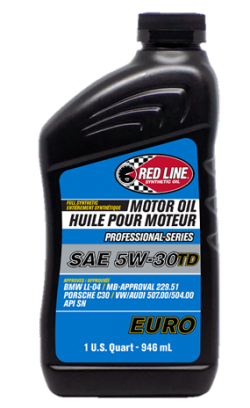 REDLINE OIL 12224 Моторное масло Professional-Series 5W30TD EURO 0,946л