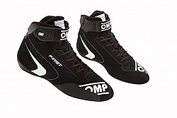 OMP IC/802E07140 FIRST my2020 Racing shoes, FIA 8856-2018, black, size 40