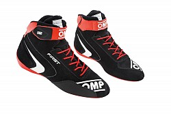 OMP IC/802E07344 FIRST my2020 Racing shoes, FIA 8856-2018, black/red, size 44