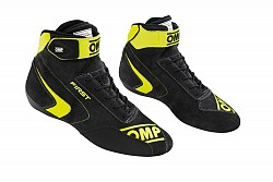 OMP IC/802E18240 FIRST my2020 Racing shoes, FIA 8856-2018, gray/yellow fluo, size 40