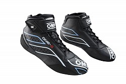OMP IC/82207143 ONE-S my2020 Racing shoes, FIA 8856-2018, black, size 43