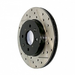 STOPTECH 127.67048L Диск тормозной перед DODGE RAM 1500 2000-2001 Slotted & Drilled Rotor